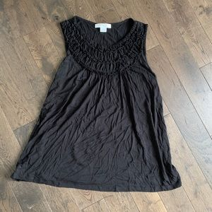 Black Sleeveless Top / Tank,   Size L